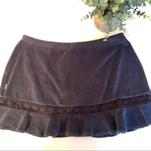 Anne Cole Black Terry Swim skirt cover up